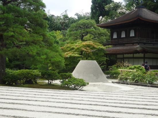 ginkaku ji temple jardin sec devant le pavillon dargent - Jardin Sec