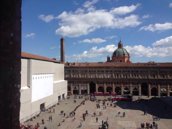Veduta dall'alto di piazza maggiore