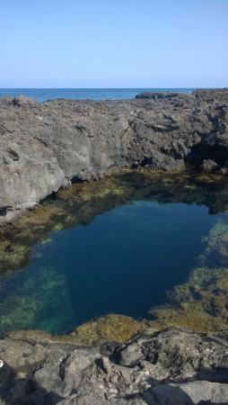 La piscina cavit nella roccia vulcanica con una grotta che porta fino al mare foto di - B b porta di mare ...
