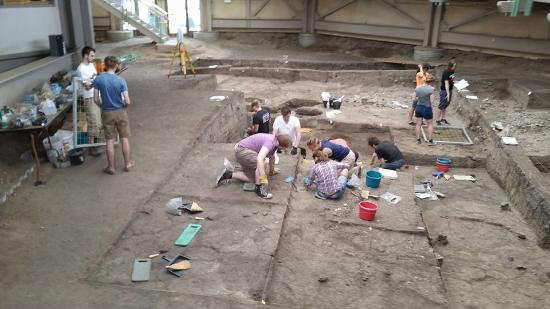 live dig with students frm england - Picture of Mitchell