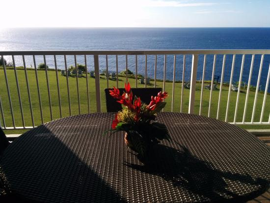 Cliffs at Princeville: Ocean view from lanai in Bldg 8