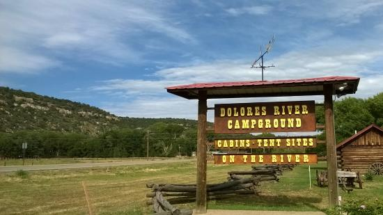 Dolores River Campground and Cabins: Dolores River Campground Sign