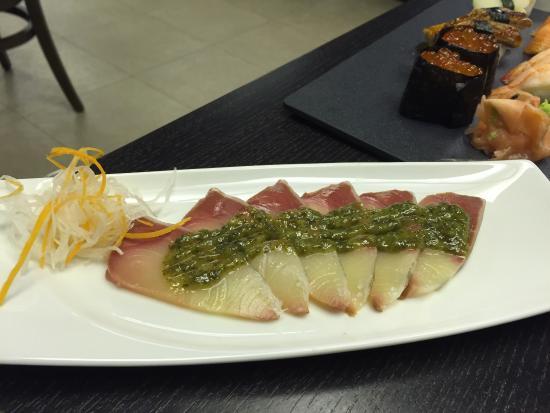 Hamachi carpaccio. - Picture of Sushi Central, Abu Dhabi - TripAdvisor