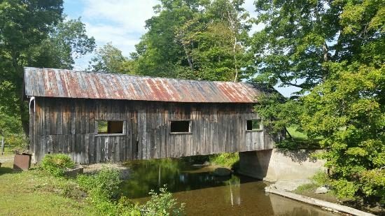Covered Bridge at Grafton Cheese Factory