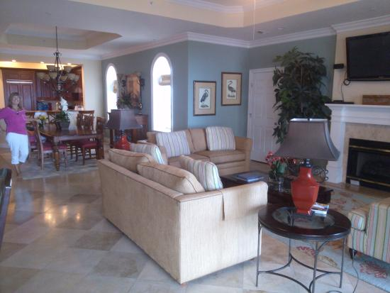 Hammock Beach Resort North Tower Living Room Dining
