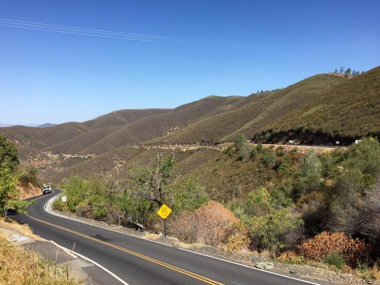 Big Oak Flat, CA: Amazing view. Sheltering from the sun.