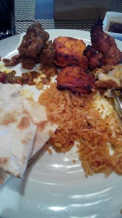 Indian food at buffet