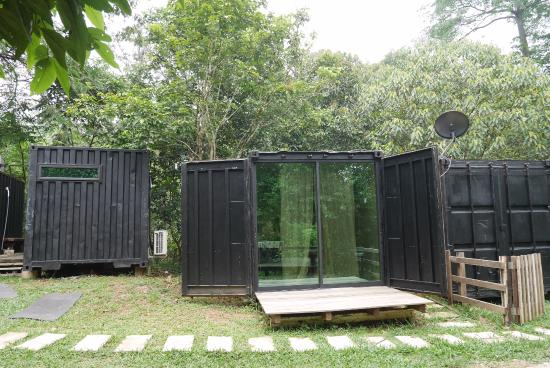 Outdoor cabins which fits 4 pax but slightly pricier