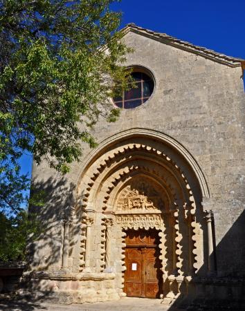 Abbaye Notre Dame de Ganagobie : Portail de l'église