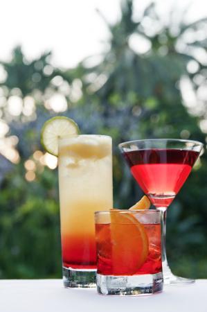 Il Giardino: Campari cocktails at sunset