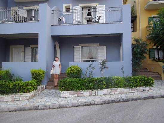 9 Muses Hotel Skala Beach: The front view of our room