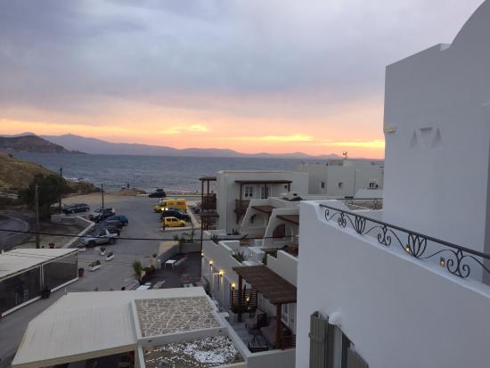 Coco Mat Matras : Balcony sunset picture of boutique hotel glaros naxos town