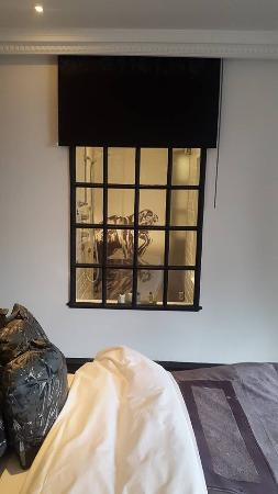 The Exhibitionist Hotel: Window From Bedroom Into The Walk In Shower