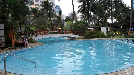 Hasil gambar untuk gambar kolam renang hotel shangrila