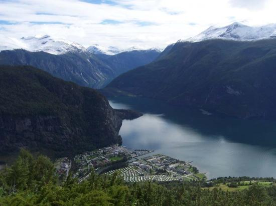Norddal Municipality, Norwegia: From a saeter above Valldal