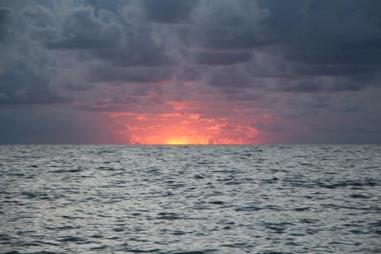 Manasota Key Beach Unusual Sunset At