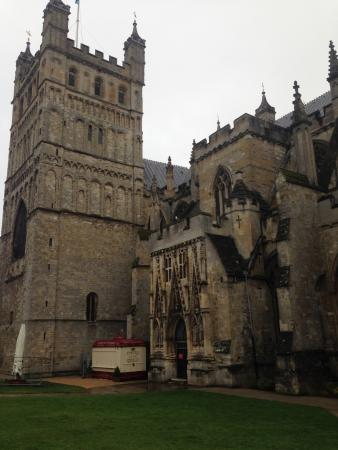 Exeter Cathedral: cathédrale de Exeter