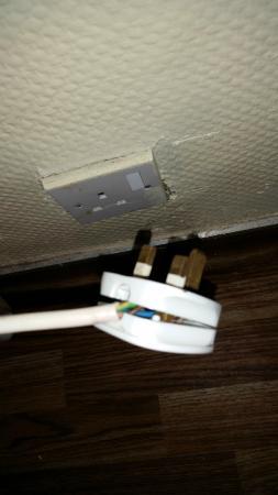 Camber, UK: Dangerous plug.