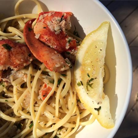 Lobster scampi at Native Cape Cod Seafood