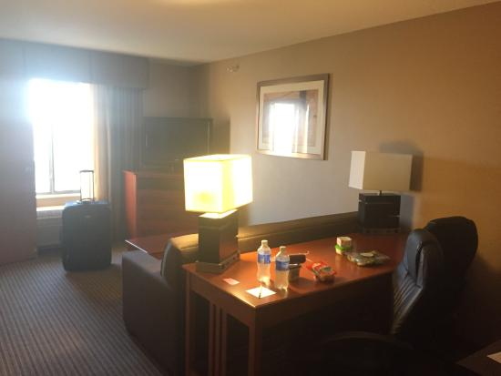 Hampton Inn Mitchell: First part of King Suite
