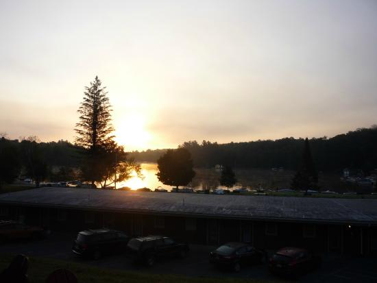 Forge Motel: sun rise from room