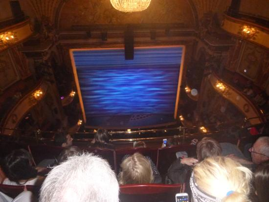 View from balcony row d picture of mamma mia london for Balcony novello theatre