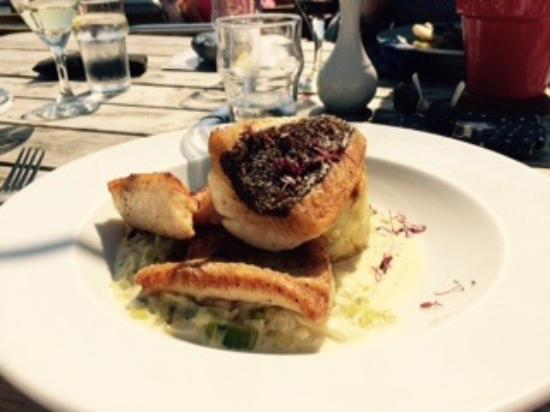 River Exe Cafe: Brill with crushed potatoes and creamed leeks,  soooo divine!!!