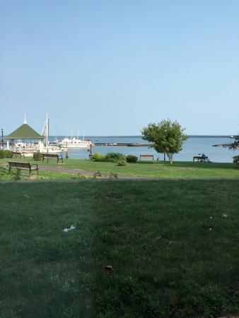 The Bayfield Inn: View from our lakeside suite (003)