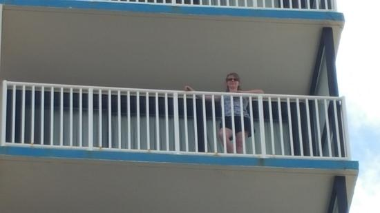 Comfort Inn & Suites Virginia Beach - Oceanfront: zoom view of balcony from ground level Room 901