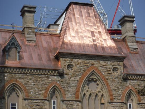 Parliament Hill And Buildings: PARLIAMENT NEW COPPER ROOF