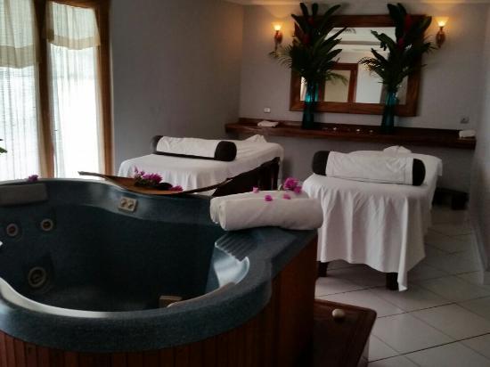 Hilton Moorea Lagoon Resort & Spa: Spa . Si vous passez dans cet hôtel n'hésitez pas à vous faire cocoonez.