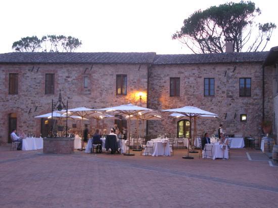 Castel Monastero: Night time dining at Gordon Ramsey's restaurant