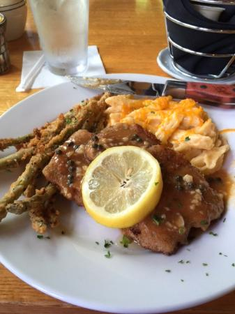 The Sweet Onion: Weiner Schnitzel fried asparagus and mac & cheese ...