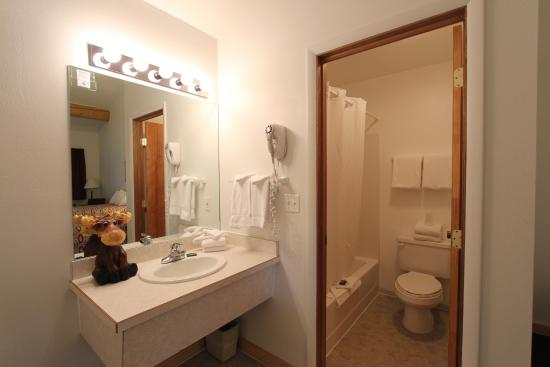 Moose Creek Lodge and Suites: Guest Bathroom