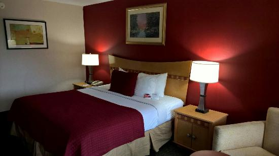 Ramada Hotel & Suites Warner Robins: This is my room! I'm very pleased.
