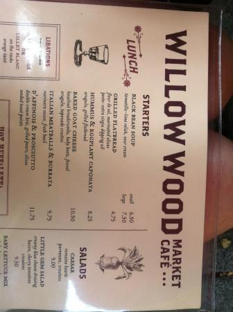 Willow Wood Market Cafe: menu