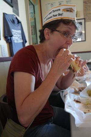 Parkway Bakery & Tavern: Po Boys and paper hats