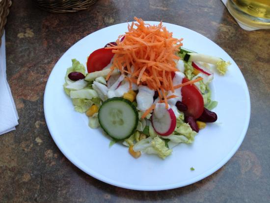 Hotel Restaurant am Markt: Excellent salad with fresh local vegetables.