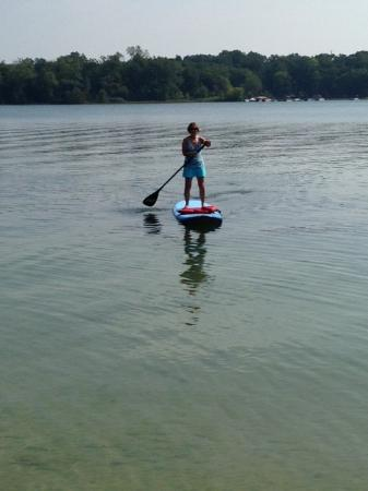 Paddle boarding at Pinckney Recreation
