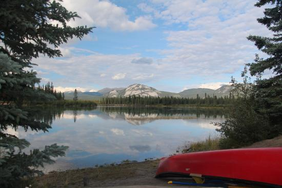 Yukon River: View from the campsite, only a few hours (~4-5) from Whitehorse