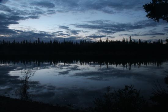 Almost midnight on the Yukon River