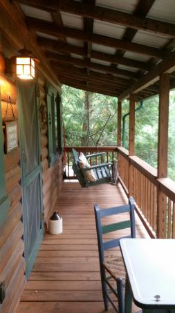 Candler, NC: View of porch