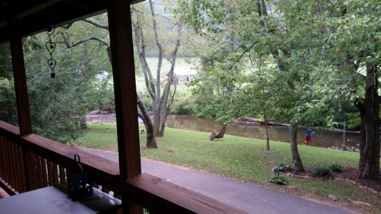 Candler, NC: View from porch