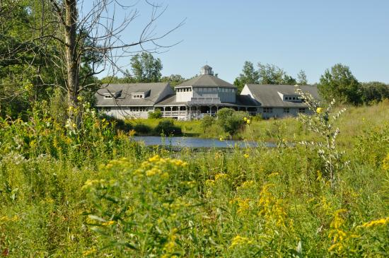 Saukville, WI: The nature center building has a gift shop, library, and educational areas