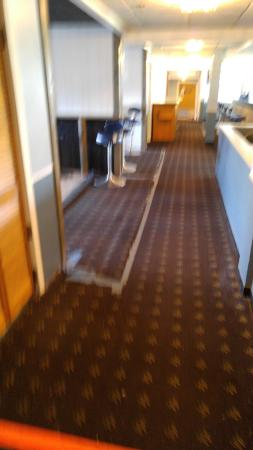The Lakeside Inn: Carpet held with duct tape (sorry for the poor quality pic).