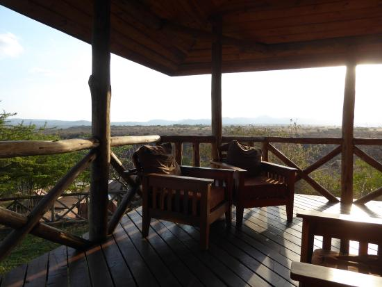 Escarpment Luxury Lodge: Perfect place to watch sunset over the Escarpment