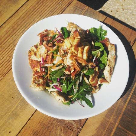 Street Corner Espresso: raw vegi salad