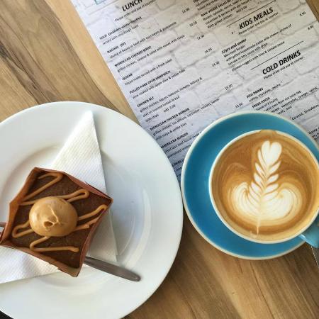 Street Corner Espresso: coffee and cake $7.50