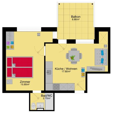 Letzigrund - Apartments: Plan of the apartment
