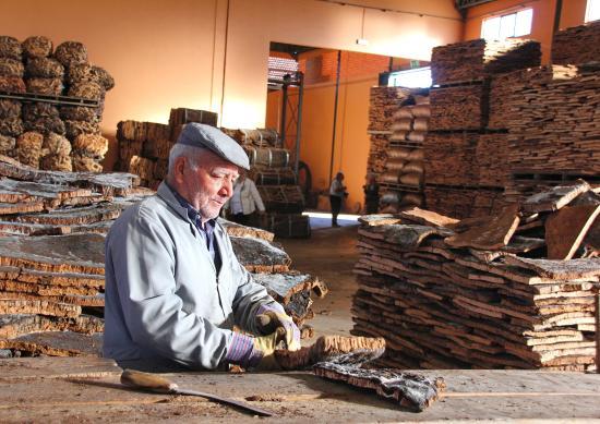 Sao Bras de Alportel, Πορτογαλία: Cork worker